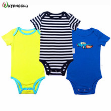 3 PCS/lot Newbron Boy Girls Rompers Set Baby Jumpsuit Girl Clothes Roupa De Bebe Clothing