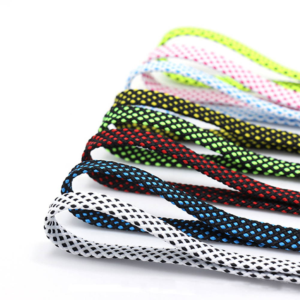 120cm Two-color Flat Shoelace Fashion Polyester Sneaker Shoe Lace Colors Checkered Double Layer Hollow Flat Shoelaces