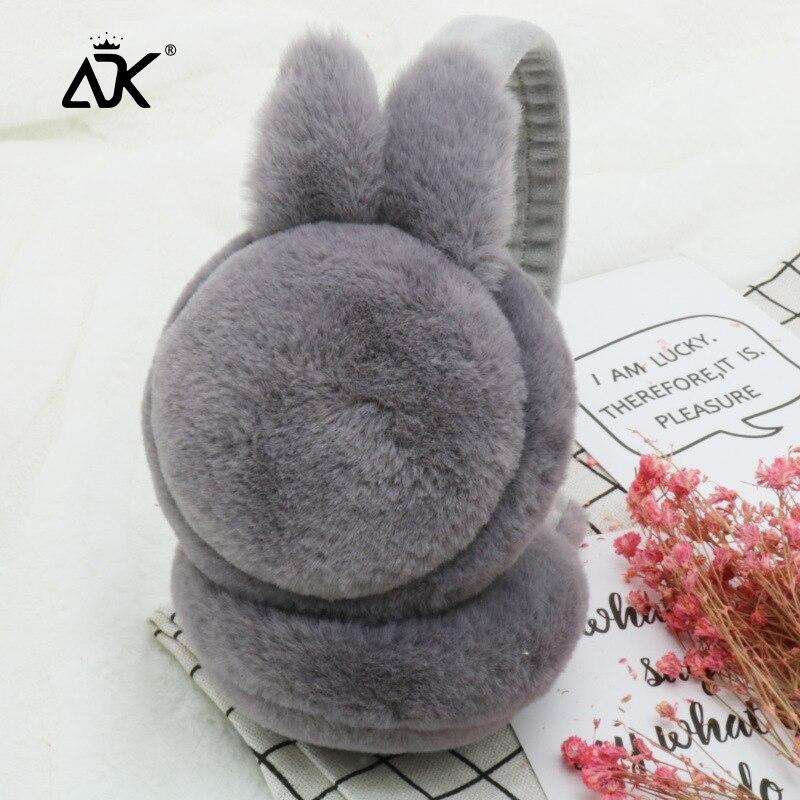 Winter Earmuffs Cute Rabbit Design Sweet Muffs Woman Soft Warm Earlap Outdoor Thick Comfortable Ear Protect Earmuffs