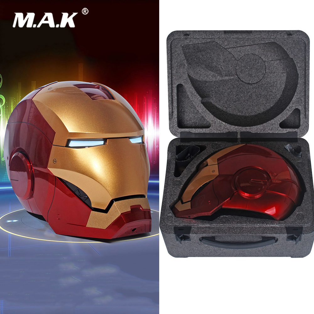 In Stock MK7 Upgrade Version 1/1 Iron Man MK42 MK3 Helmet Automatic On-off Electric Model For Real People Fans Gifts