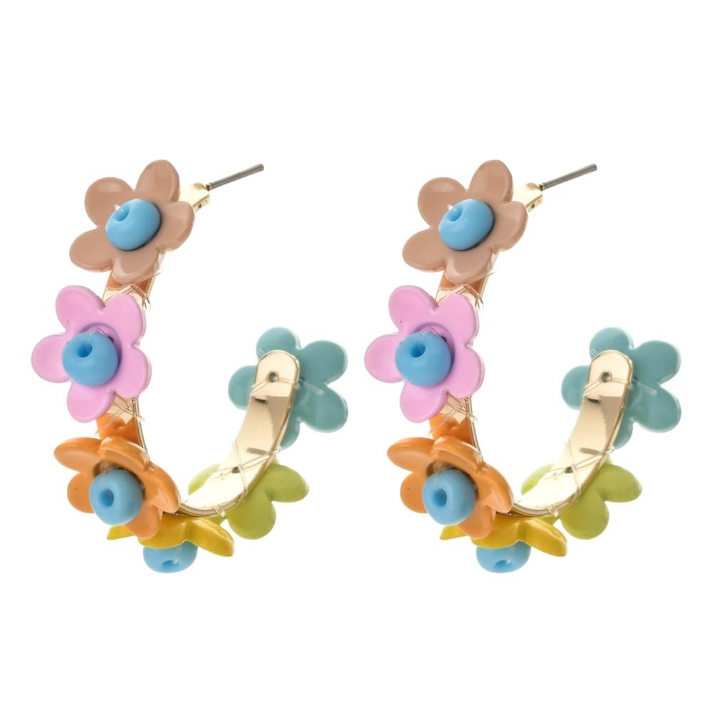 ZMZY Rainbow Personality Elegant Flower Fashion Earrings Femme Women's Earring Exquisite 2020 New Earrings Boho Jewelry Wedding