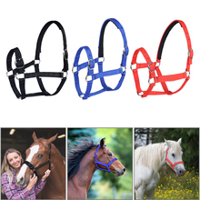Horse Riding Thickened Horse Head Collar Adjustable Safety Halter Bridle Headcollar Racing Horse Equipment Training Rope