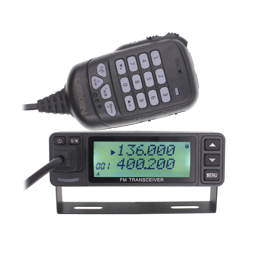 LEIXEN VV-998S VV-998 Mini Walkie Talkie 25W Dual Band VHF UHF 144/430MHz Mobile Transceive Amateur Ham Radio Car Radio