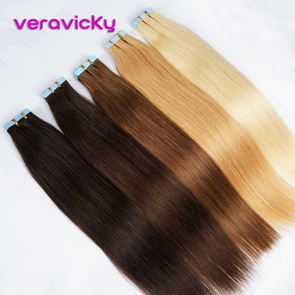 Tape in Hair Extensions Human Hair Double Side Tape Seamless Skin Weft 16-22inch Machine Made Remy Natural Hair Extensions