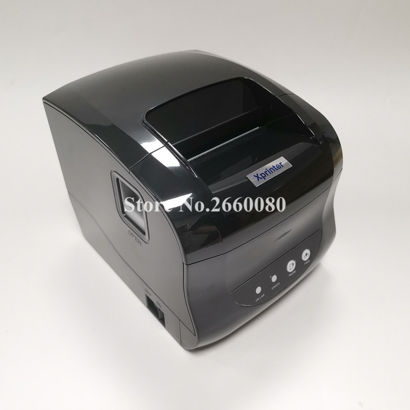 80mm Thermal Receipt and Label Printer for Supermarket POS System Chicken Receipt with USB Port and Cash Drawer Port