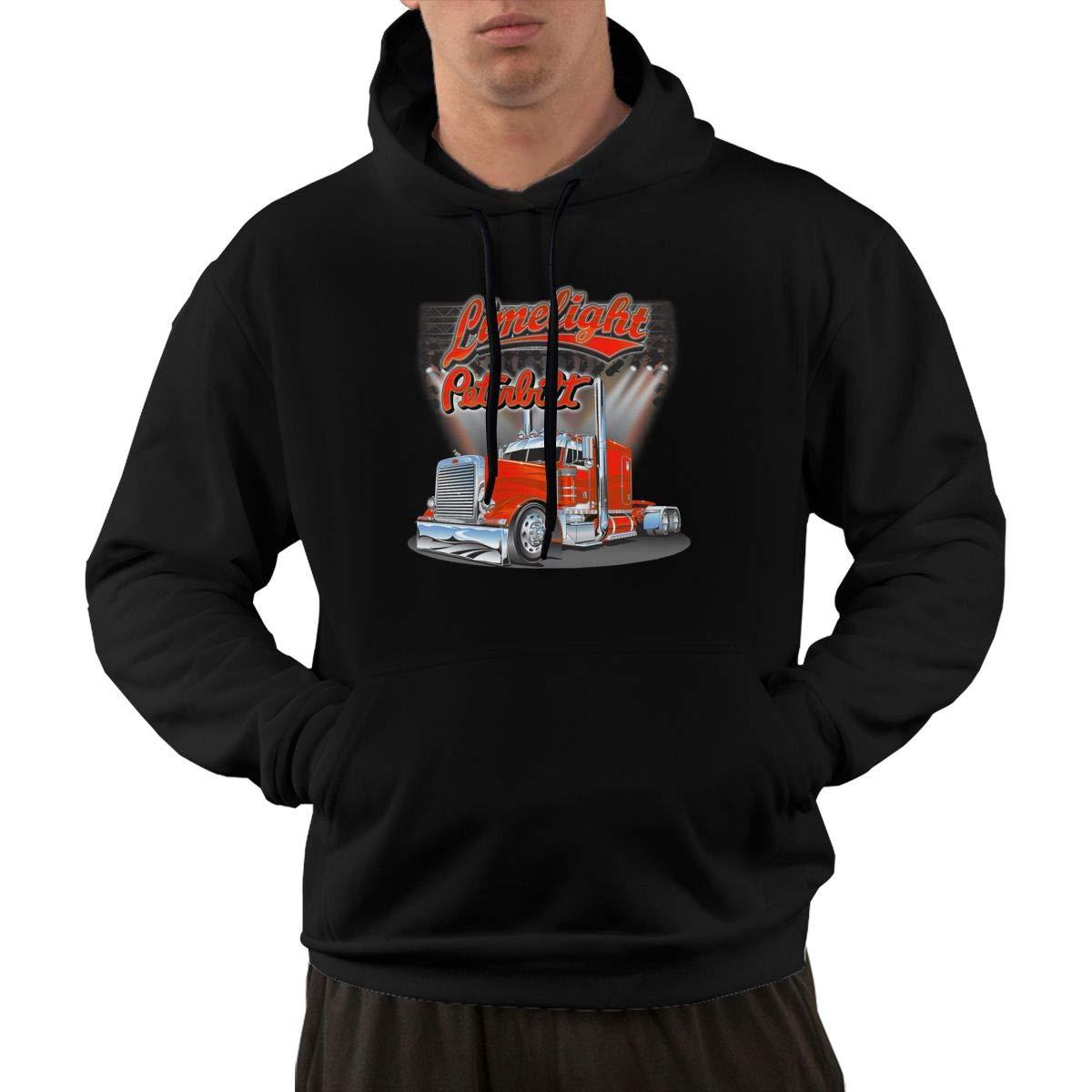 IOBZXZWRYM Peterbilt Truck Men Cool Hoodies Winter Summer Coat Streetwear Gym Jogger Hoodies Sweatshirts