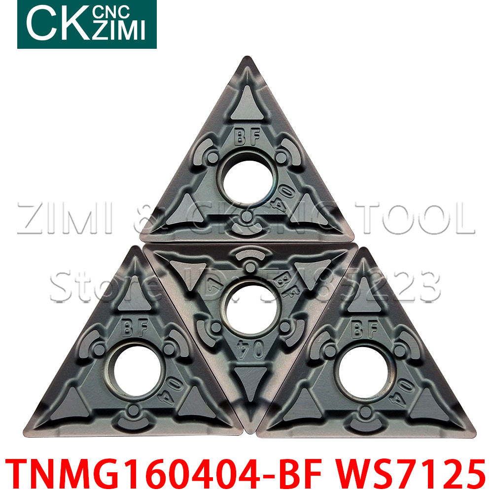 TNMG160404-BF WS7125 Carbide Turning Inserts CNC Lathe Blade Cutting Tools Holder high quality <font><b>TNMG</b></font> <font><b>160404</b></font> for stainless steel image