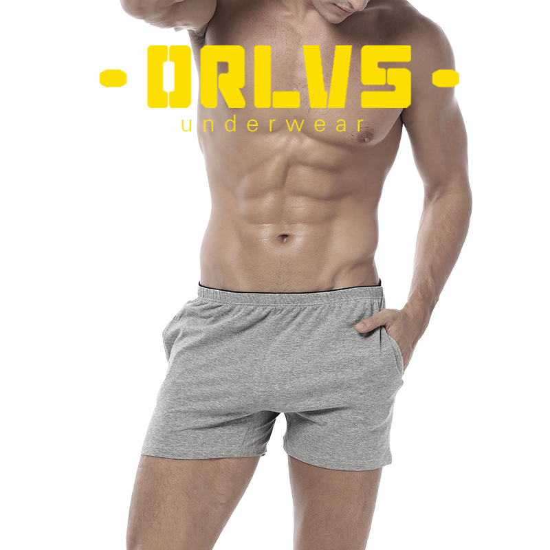 ORLVS Comfortable Underwear Men Boxers Cotton Quick Dry Breathable Cueca Tanga Men Shorts Male Sleepwear Solid Boxers OR130
