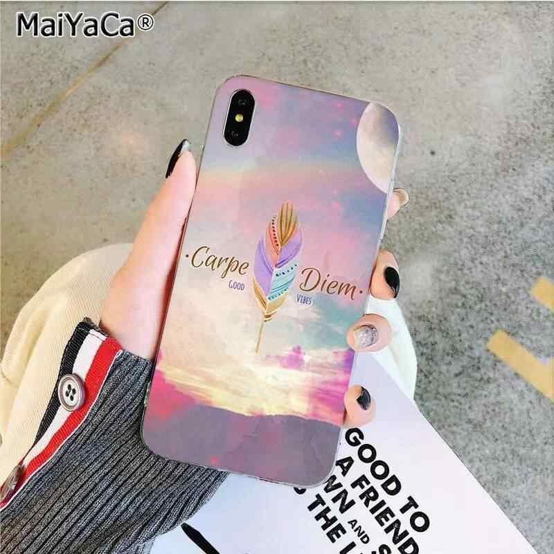 Maiyaca Seni Lukis Bulu Silikon Lembut Tpu Ponsel Cover UNTUK iPhone 11 Pro XS MAX 8 7 6 6S plus X 5 5S SE XR Cover
