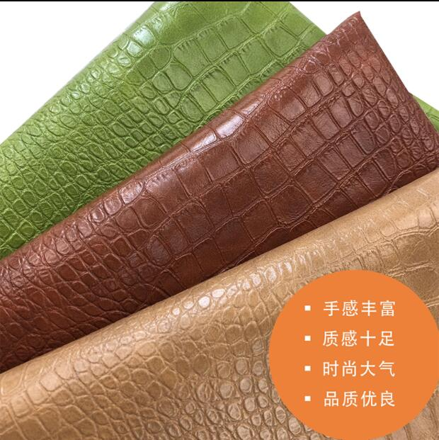 12style PU Leather Fabric Waterproof Crocodile grain Sofa Car Luggage Soft wrapped Hard wrapped Handmade textiles fabric C685 in Synthetic Leather from Home Garden