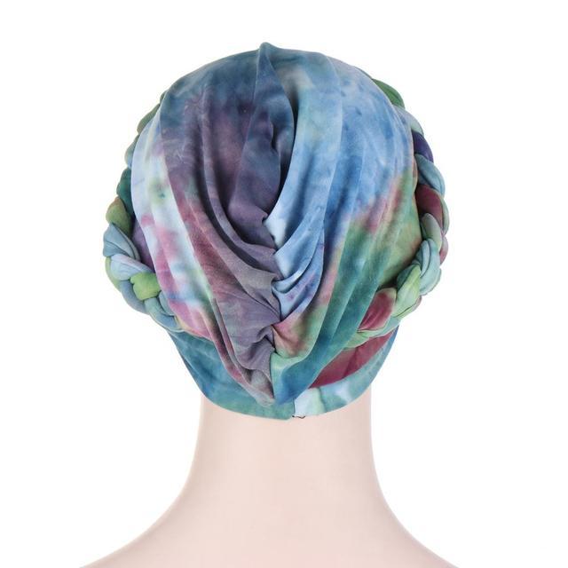 мусульманские женщины крест шелковистая коса тюрбан шляпа головной фотография