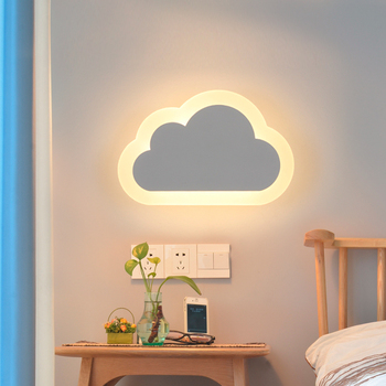 Modern LED Clouds Wall Lamps Wall Light Living Room Kids Bedroom Decor Acrylic Sconce lamp AC 110V 220V Indoor Light Fixtures