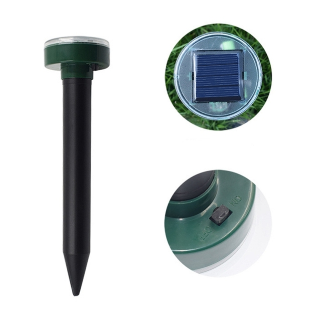 LED Solar Ultrasound Insect repellent Snake Bird Mosquito Mouse Ultrasonic Deworm Control Gardening Tools