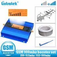 Mini LCD GSM 900Mhz 2G wzmacniacz sygnału telefonu wzmacniacz sygnału komórkowego gsm 900 2g wzmacniacz + kabel + antena yagi
