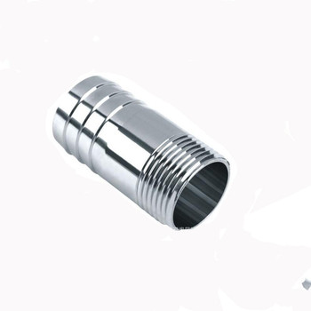 """BSP Male Thread Hose Tail Barb 304 Stainless Steel Threaded Pipe Fitting Connector Coupler For Water Oil Air 1/8""""1/4""""3/8""""1/2 40mm hose barb tail to 1 1 2 bsp 47mm od male thread straight brass connector joint copper pipe fitting coupler"""
