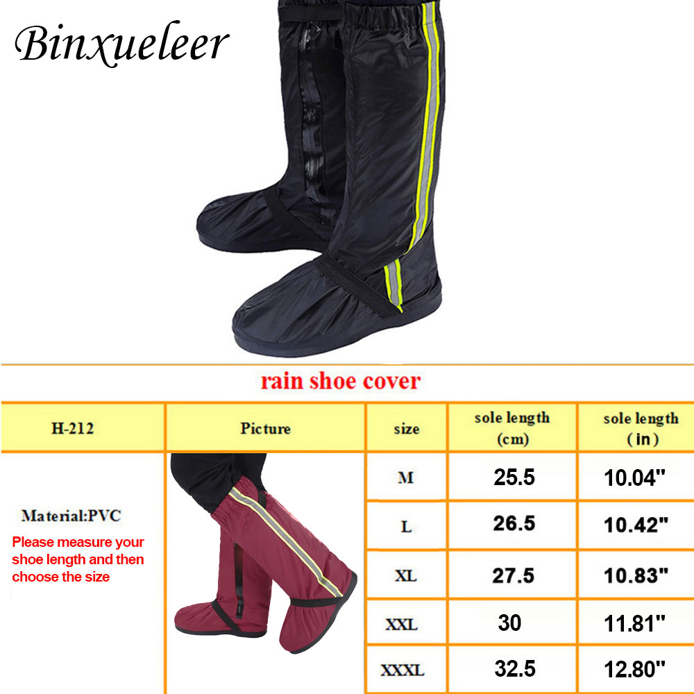 Image 5 - Unisex Fluorescent Rain Shoes Cover Boots Reusable Rain Cover For Shoes Waterproof Motorcycle Rain Shoes Cover Non Slip Boots-in Shoes Covers from Shoes