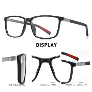 Image 2 - MERRYS tasarım erkekler lüks asetat gözlük çerçevesi miyopi reçete gözlük bahar menteşe silikon tapınak ucu S2518