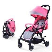 Yoyaplus  Baby stroller Lightweight cart Portable trolley 2 in 1 baby car multicolor