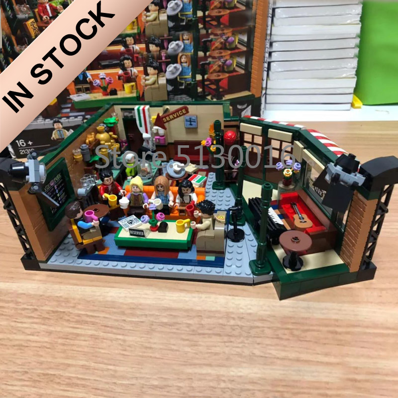 21319 In Stock Friends Central Perk And Big Bang Theory Ideas Model Building Blocks Bricks Toys 16024 21302