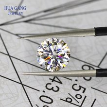 Moissanite 3 Carat D Color Round Brilliant 9mm Loose Moissanite Stone VVS1 Excellent Cut Grade Test Positive Lab Diamond
