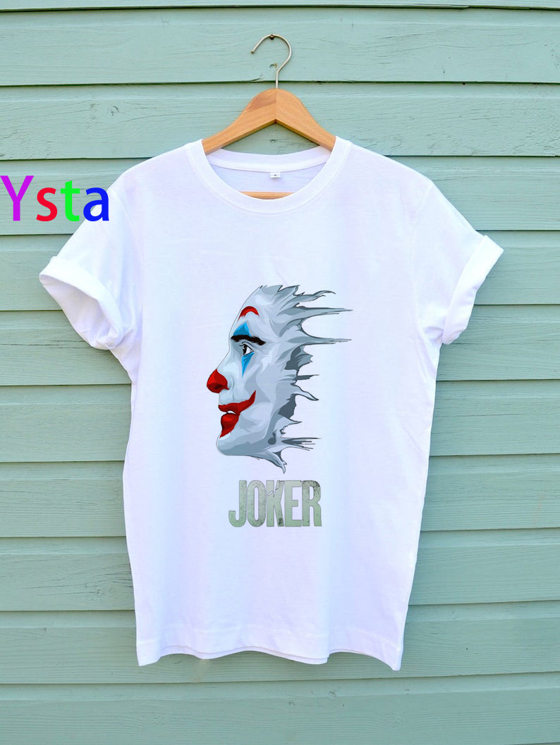 Joker Joaquin Phoenix T- shirts women Summer New Harajuku Chucky t shirts Horror Halloween Hip Hop Streetwear Top Tees female