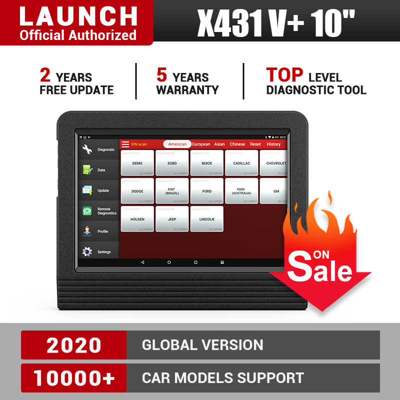 Launch X431 V Plus Xe Máy Quét Chẩn Đoán Tự Động Chẩn Đoán Dụng Cụ Đầy Đủ Hệ Thống Chẩn Đoán Scaner Ô Tô PK X 431 Pro 3 V 8