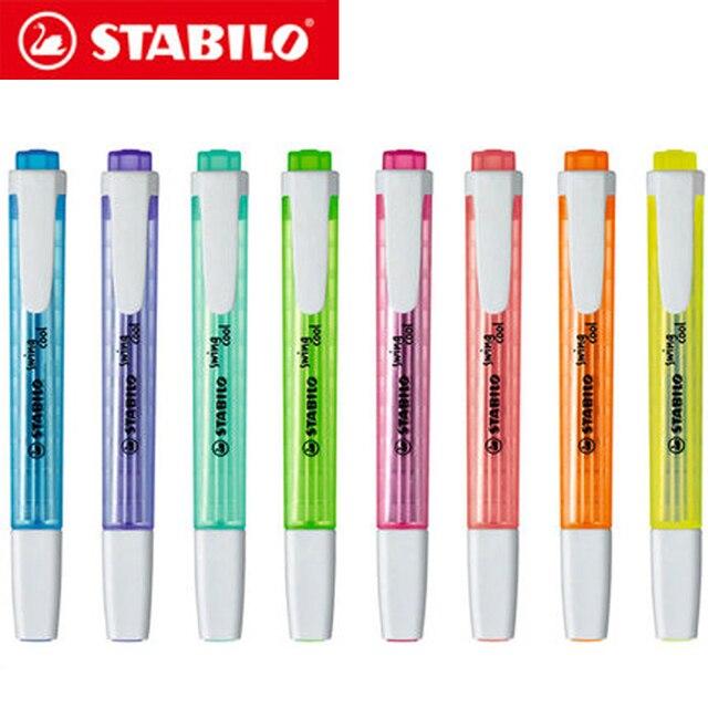 8 Stuks Duitse Stabilo Cool Kleur Markeerstift 275 Draagbare Leuke Student Kantoor Marker Marker Is Niet Gemakkelijk Te Drogen