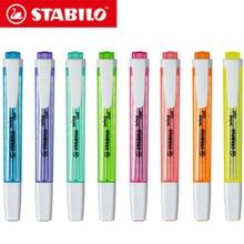 8Pcs 독일어 STABILO 쿨 컬러 형광펜 275 휴대용 귀여운 학생 사무실 마커 마커는 건조하기 쉽지 않습니다