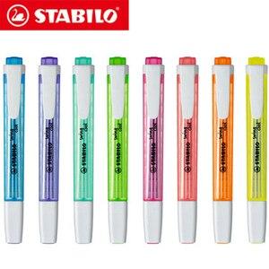 Image 1 - 8Pcs גרמנית STABILO מגניב צבע סימון 275 נייד חמוד תלמיד משרד סמן סמן הוא לא קל יבש