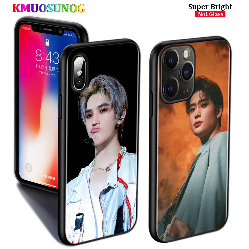 Black Silicone <font><b>Case</b></font> NCT 127 Kpop <font><b>Boy</b></font> <font><b>for</b></font> <font><b>iPhone</b></font> 11 11Pro XS MAX XR X 8 7 6S 6 Plus 5S Gloss Phone <font><b>Case</b></font> Cover image
