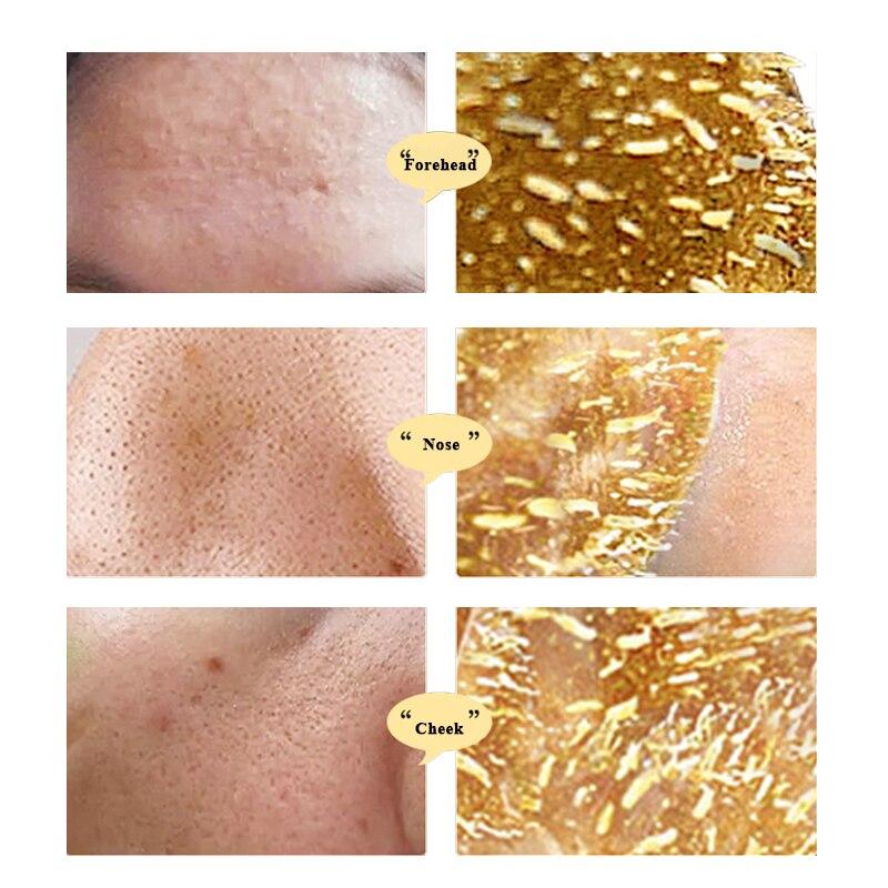 24K Золотая маска для лица, Антивозрастная, уход за кожей, сужение пор, против морщин, лечение лица, средство для удаления черных точек, лечени...