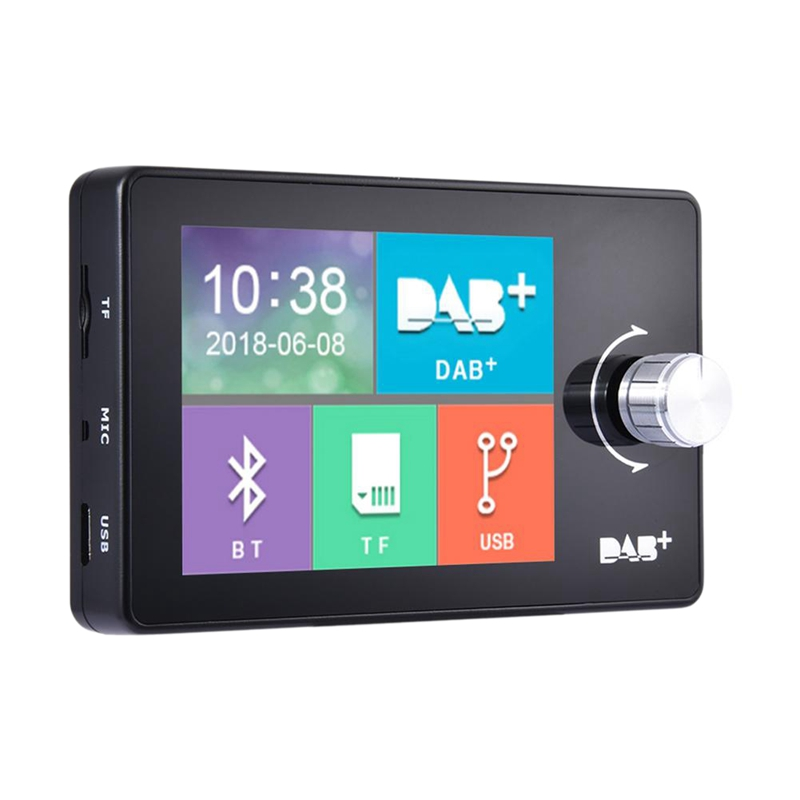 Tüketici Elektroniği'ten MP3 Oynatıcı'de Araba avrupa Dab Plus dijital yayın Fm alıcı çoklu müzik formatları ile 2.8 inç ekran araba aksesuarları title=