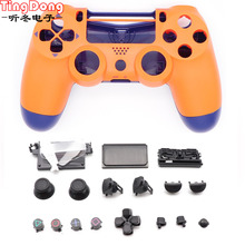Replacement Front Orange  Case Housing Shell For Playstation 4 PS4 pro 4.0 Gen 2th V2 JDM  040 JDS 040 Controller