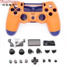 Yedek ön turuncu durumda konut kabuk için Playstation 4 PS4 pro 4.0 Gen 2th V2 JDM 040 JDS 040 denetleyici