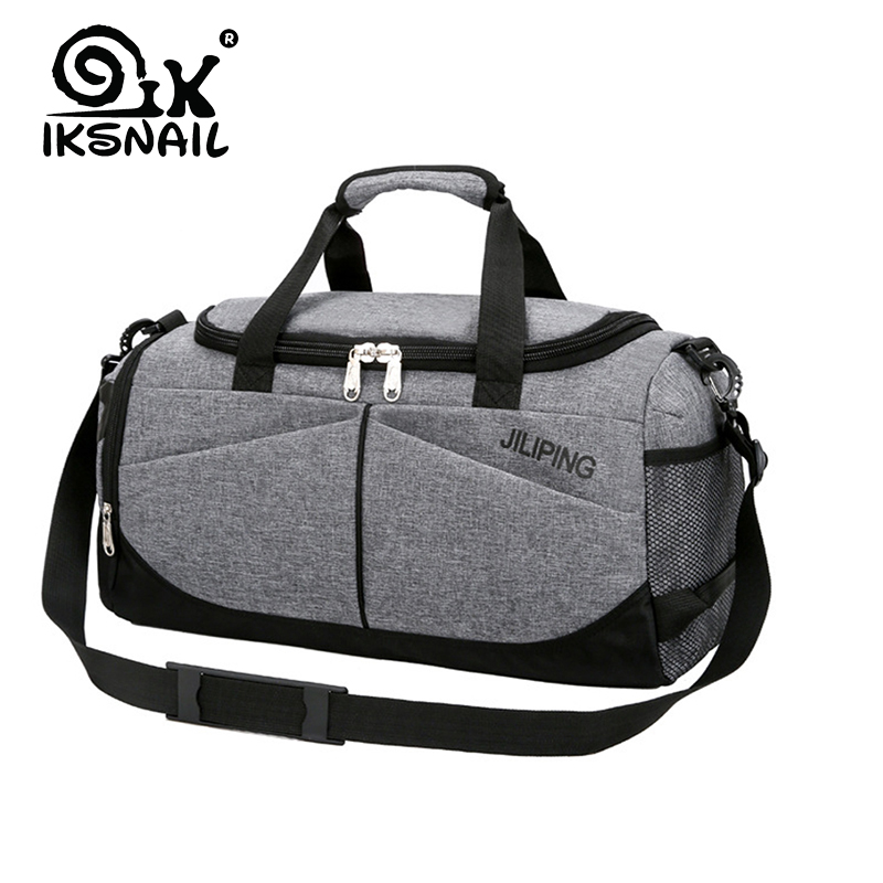 IKSNAIL Waterproof Men's Sports Gym Bag Women Travel Handbag Large Outdoor Tote Luggage Yoga For Fitness Shoulder Duffle Bags