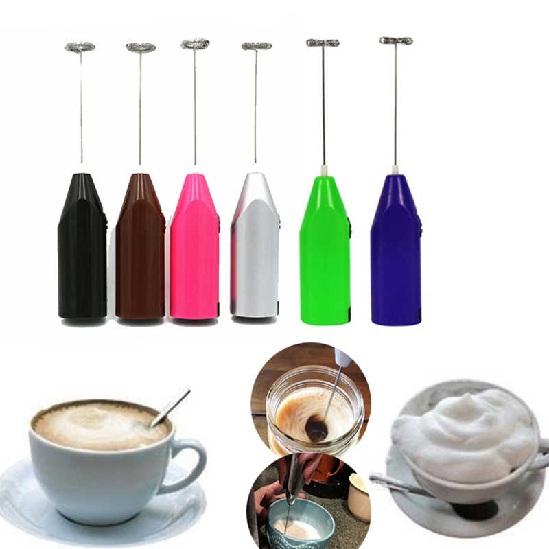 Electric Egg Beater Battery Power Whisk Coffee Milk Mixer Stirrer Frother Purple