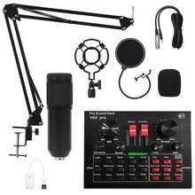 V8X Sound Card Bm800 Microphone Mixer Sound Card Live KTV Web Live Equipment