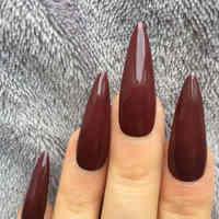 Stiletto Gefälschte Nägel Lange Sharp Nissen Nagels Mit Kleber Aufkleber Glänzend Kunststoff Künstliche Wein Rot Falsche Nägel Für Halloween Party