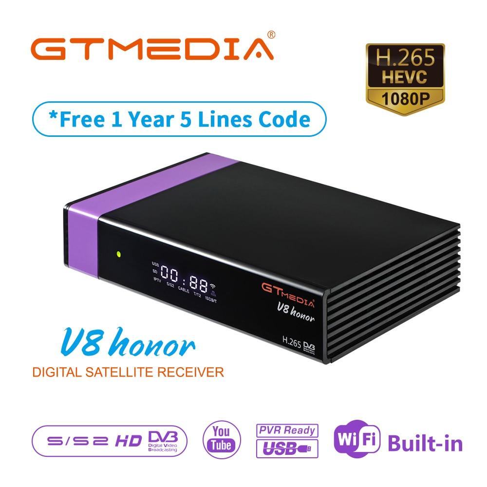 Hot Sale Gtmedia V8 Honor 3 Years Europe Cline Same As Gtmedia V8 NOVA DVB-S2 Satellite Receiver H.256 Wifi V9 Super Optional