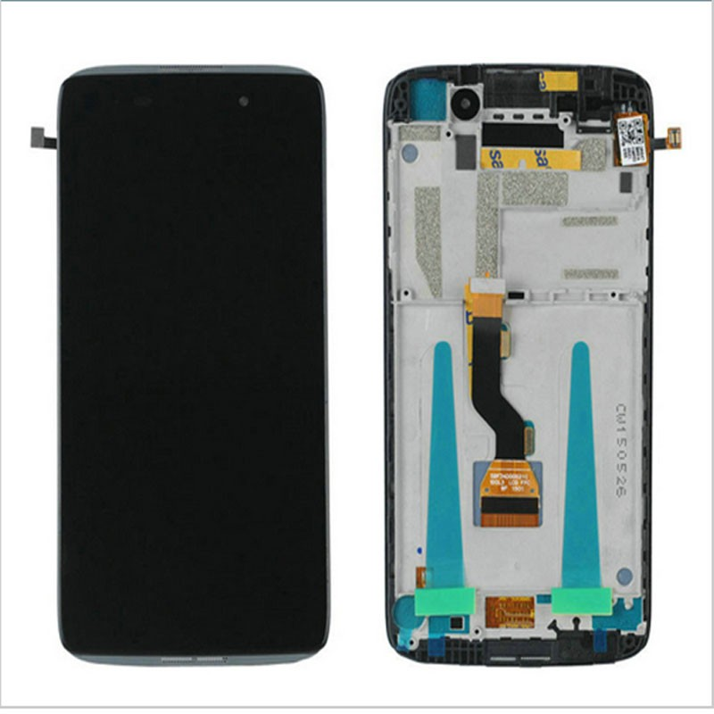 For Alcatel One Touch Idol 3 OT6039 6039A 6039K 6039Y 6039 LCD Display Digitizer Screen Touch Panel Glass Assembly + Frame