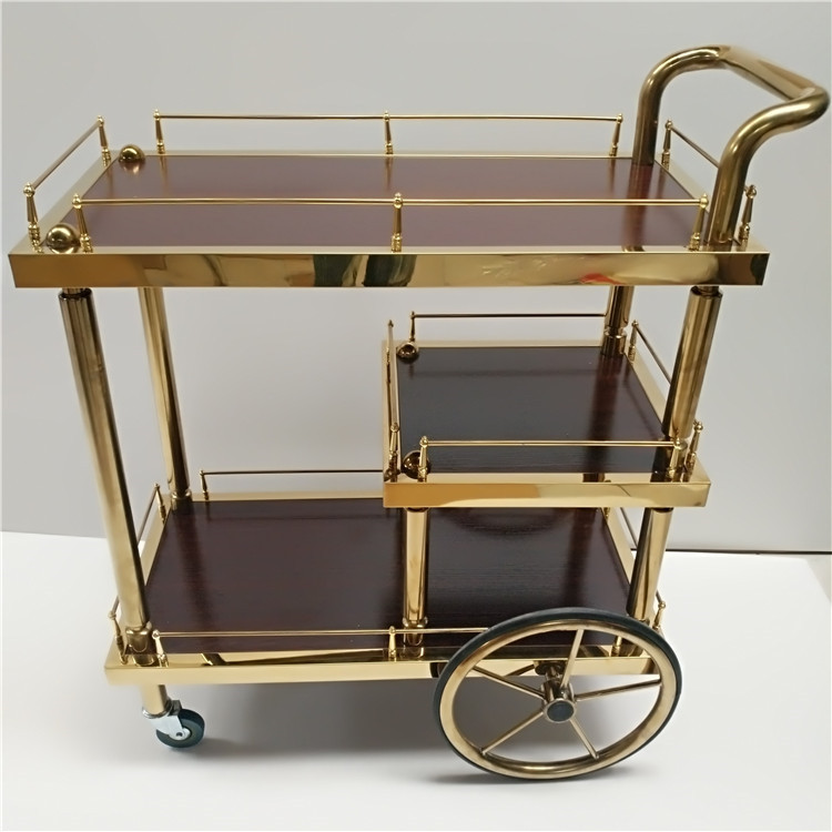 Third Floor Wine Cart Tea Cart Reception And Delivery Food Cart Stainless Steel Trolley Shelf Trolley