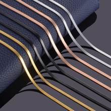 Larghezza 3mm collana piatta in acciaio inossidabile oro impermeabile Filmy Snake catena uomo regalo gioielli varie lunghezze