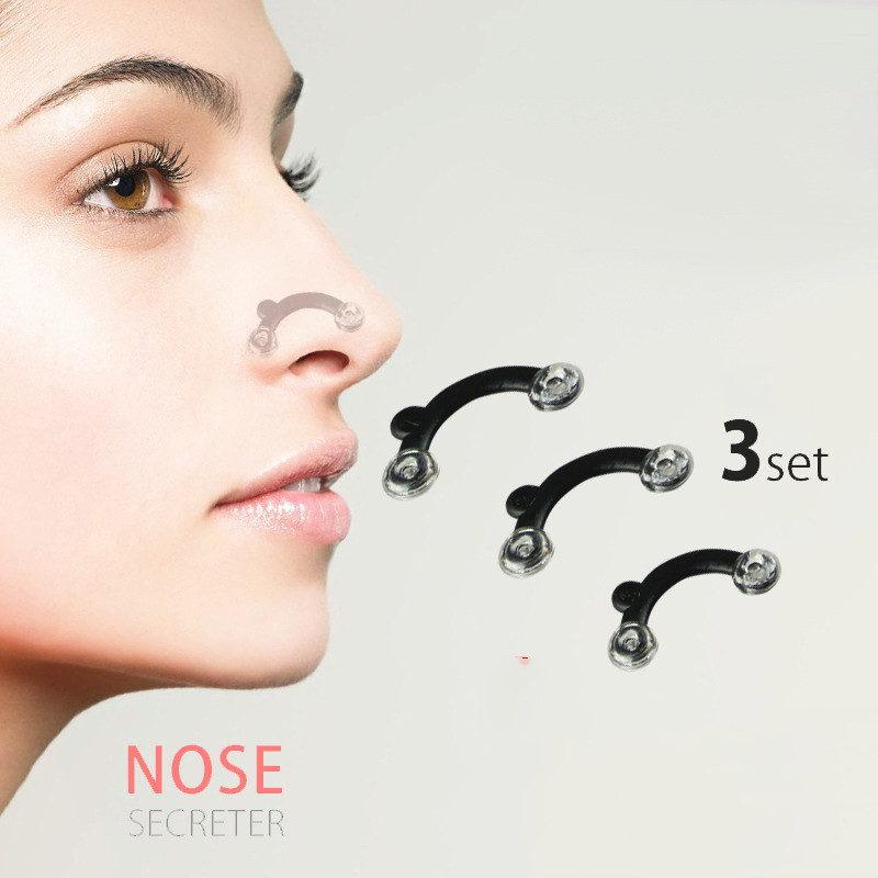 Hot Sale 6PC/Set Beauty Nose Up Lifting Bridge Shaper Massage Tool 3 Sizes No Pain Nose Shaping Clip Clipper Women Girl Massager