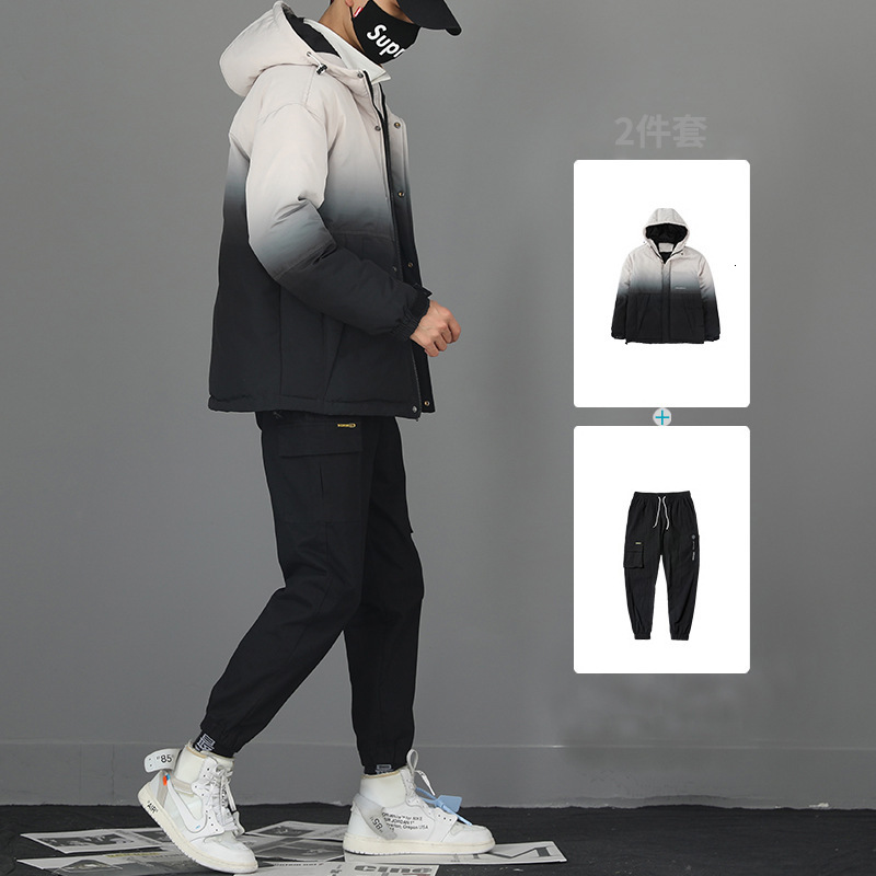 Increase Cotton Work Clothes Loose Coat Male Tide Brand Autumn Camouflage Charge Clothes-pin Can Will Code Motion Two Paper Suit