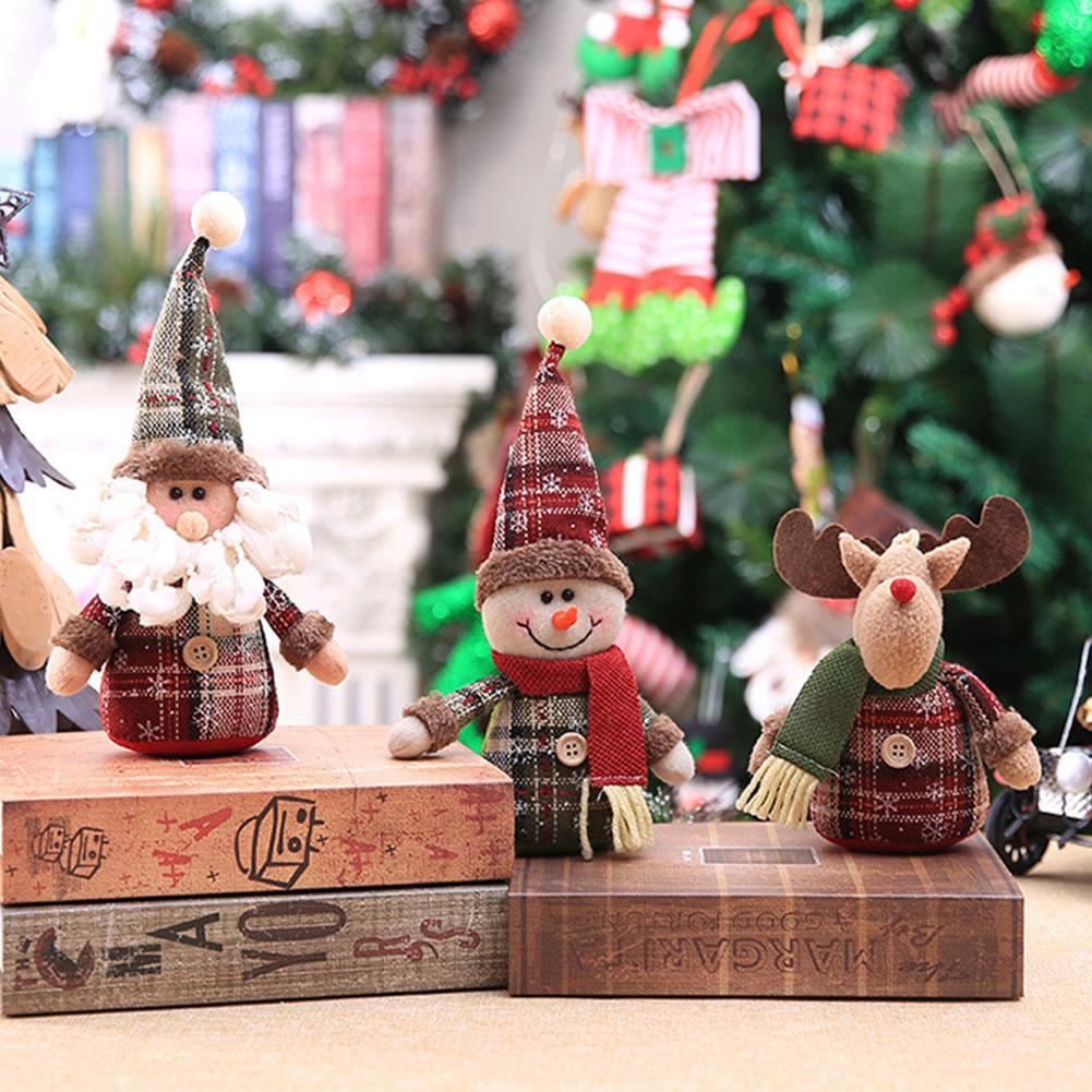 Hot Sale Christmas Tree Snowman Elk Santa Claus Hanging Doll Home Party Festival Decor