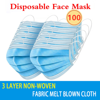 10-200PCS Mouth Masks 3 layer safe Filter Face mask Anti-pollution Disposable Non Woven Masks Breathable Protective Mascarillas