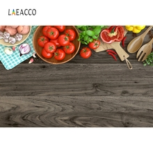 Laeacco Old Wooden Board Vegetables Food Kitchen Decor Photography Background Customized Photographic Backdrops For Photo Studio
