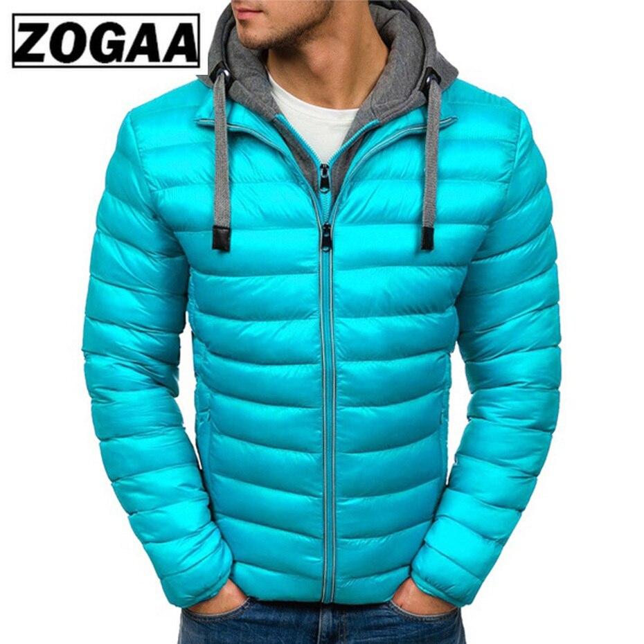 ZOGAA зимняя куртка мужская одежда 2018 новая брендовая парка с капюшоном хлопковое пальто мужские теплые куртки модные пальто