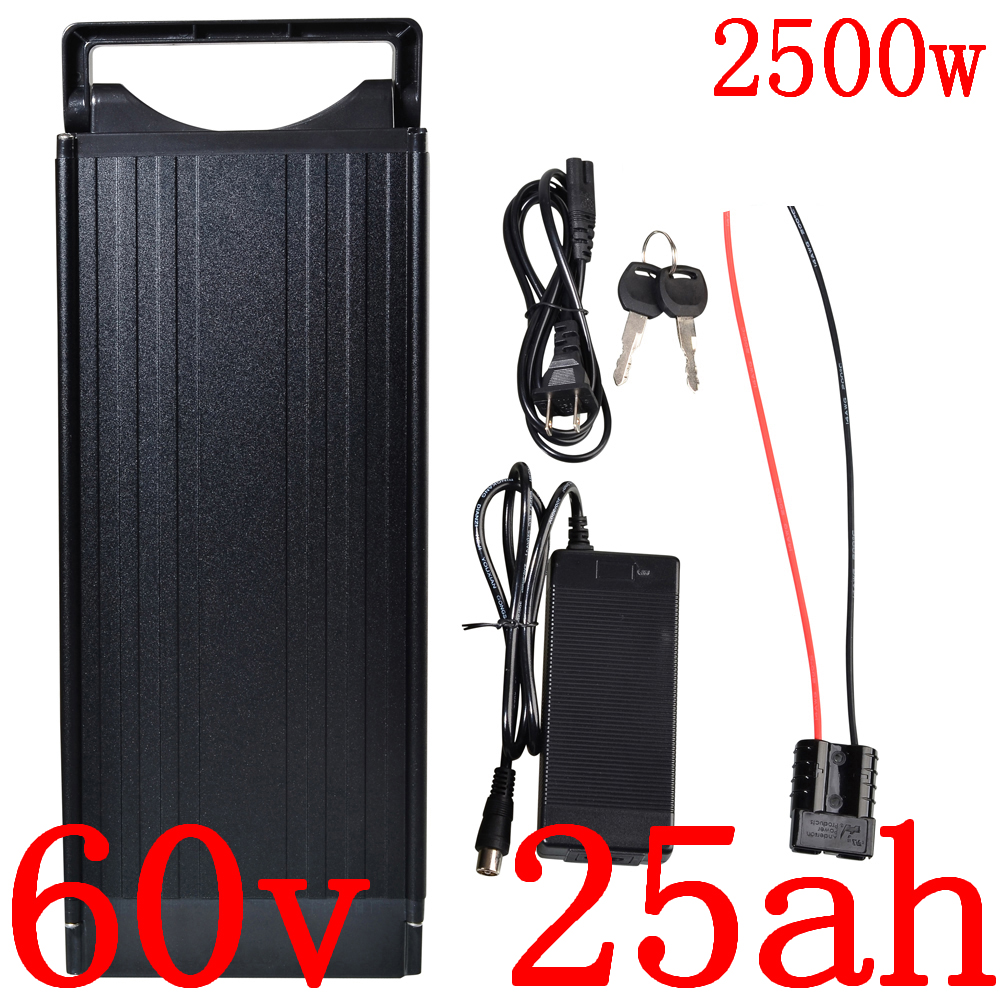 60V Lithium Battery 60V 10AH 12AH 13Ah 15AH 17Ah 18Ah 20Ah 25Ah Electric Bicycle Battery 60V 1500W 2000W 2500W Ebike Battery