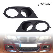 Preto Frente Car Bumper Fog Light Covers Dupla Buraco Surround Do Duto de Ar de Alta Qualidade ABS Auto Acessórios Para BMW E46 M3 2001 2006